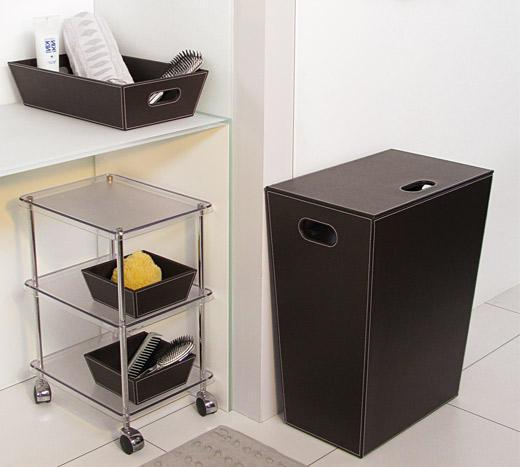 Badezimmer Wäschekorb Höhe 60 cm in verschiedenen Oberflächen erhältlich