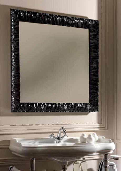 retro nostalgie spiegel 100 x 100 cm. Black Bedroom Furniture Sets. Home Design Ideas