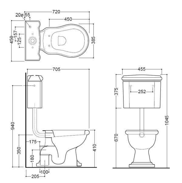 Retro Toilette Mit Sp 252 Lkasten Wandh 228 Ngend
