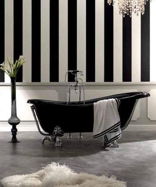 retro badewanne 1700 x 800 mm freistehend oberfl che schwarz. Black Bedroom Furniture Sets. Home Design Ideas