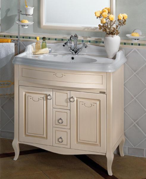 old line waschtisch 90 cm mit keramik waschtisch und. Black Bedroom Furniture Sets. Home Design Ideas