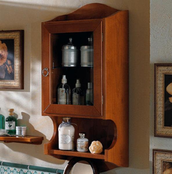old line nostalgie schrank wandh ngend mit glast r. Black Bedroom Furniture Sets. Home Design Ideas