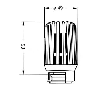 heimeier thermostat kopf b beh rdenmodell mit eingebautem f hler. Black Bedroom Furniture Sets. Home Design Ideas