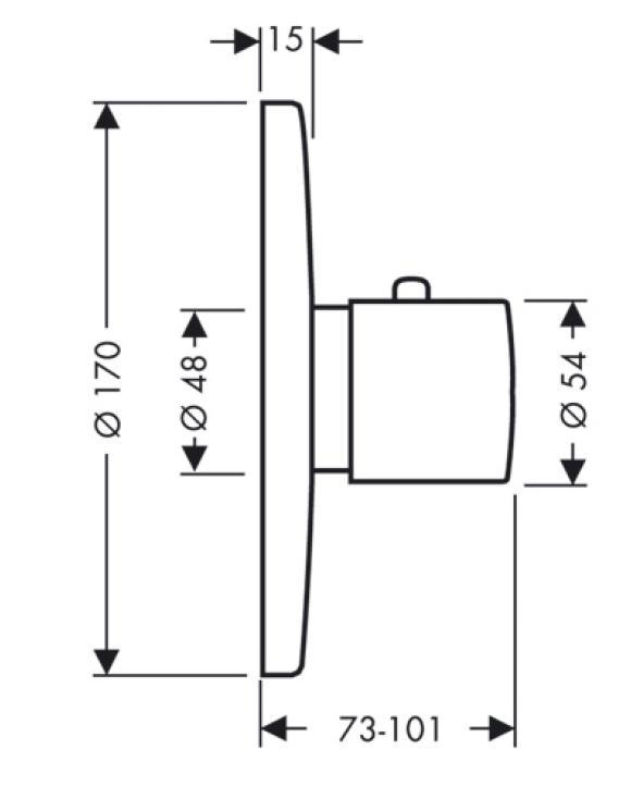 mediano sanibel ecostat s thermostat unterputz made by hansgrohe. Black Bedroom Furniture Sets. Home Design Ideas