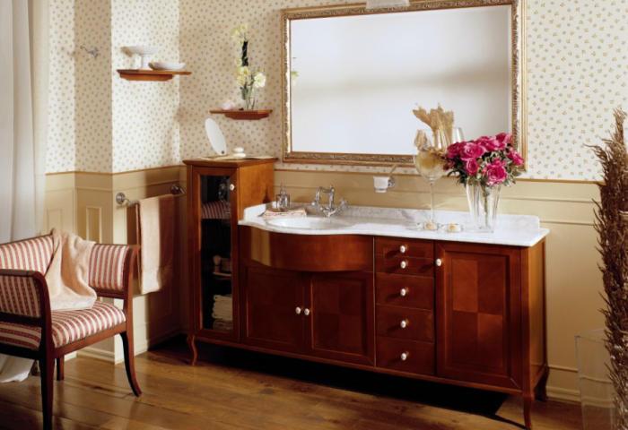 old line nostalgie waschtisch 191 cm mit unterschrank und marmor platte mit waschtisch. Black Bedroom Furniture Sets. Home Design Ideas