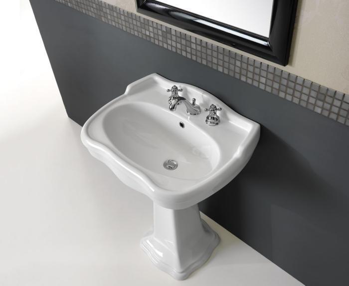 classic waschtisch 65 cm mit oder ohne s ule. Black Bedroom Furniture Sets. Home Design Ideas