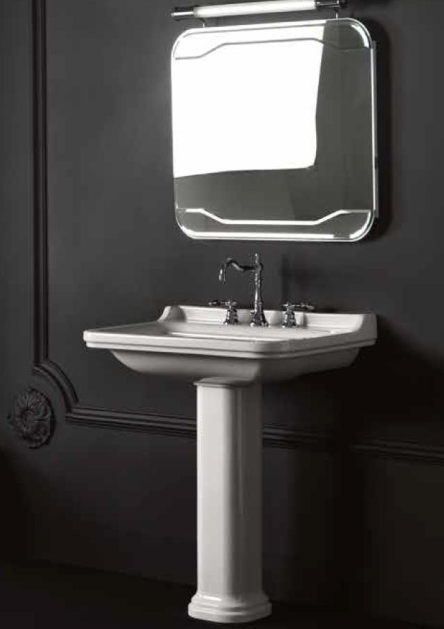 Waldorf Retro Waschtisch 80 x 55 cm mit oder ohne Säule