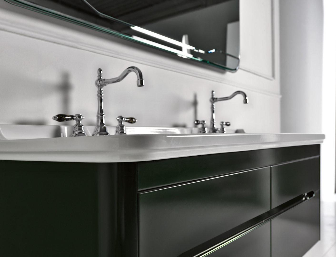 waldorf retro doppel waschtisch 150 cm mit unterschrank. Black Bedroom Furniture Sets. Home Design Ideas