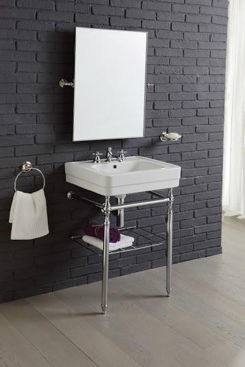 Provence landhaus waschtisch 60 cm mit metall untergestell - Waschtisch landhaus ...