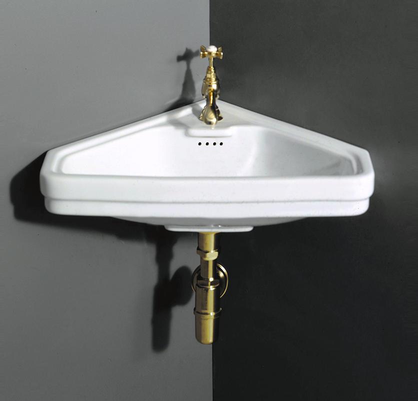 albano retro eck waschtisch 45 cm mit oder ohne s ule. Black Bedroom Furniture Sets. Home Design Ideas