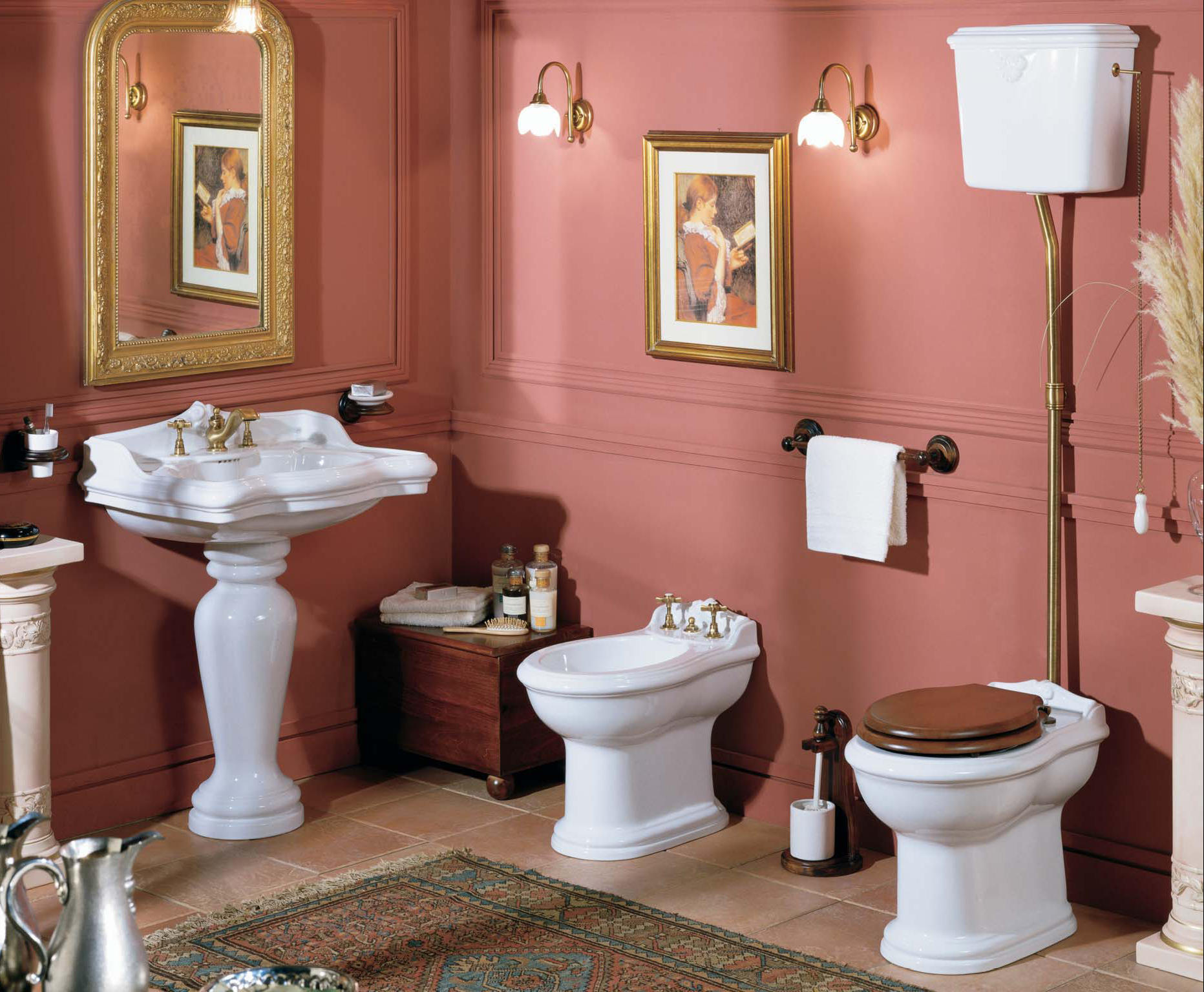 antik bad bilder badelaedchen. Black Bedroom Furniture Sets. Home Design Ideas