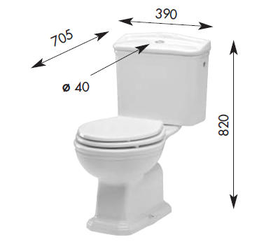 impero nostalgie toilette mit aufsatzsp lkasten. Black Bedroom Furniture Sets. Home Design Ideas