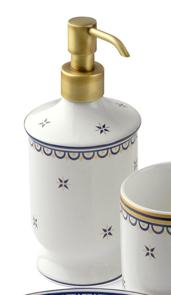 Classica Keramik Dekor Seifenspender bodenstehend - badelaedchen | {Seifenspender antik 13}