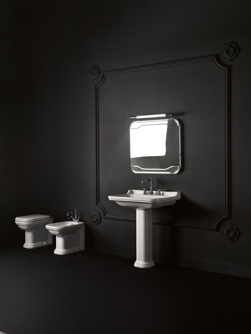 waldorf retro waschtisch 80 x 55 cm mit oder ohne s ule. Black Bedroom Furniture Sets. Home Design Ideas
