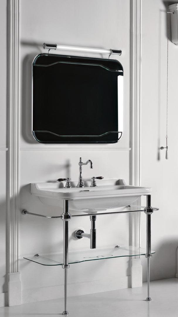waldorf antik waschtisch 80 cm mit metallgestell badelaedchen