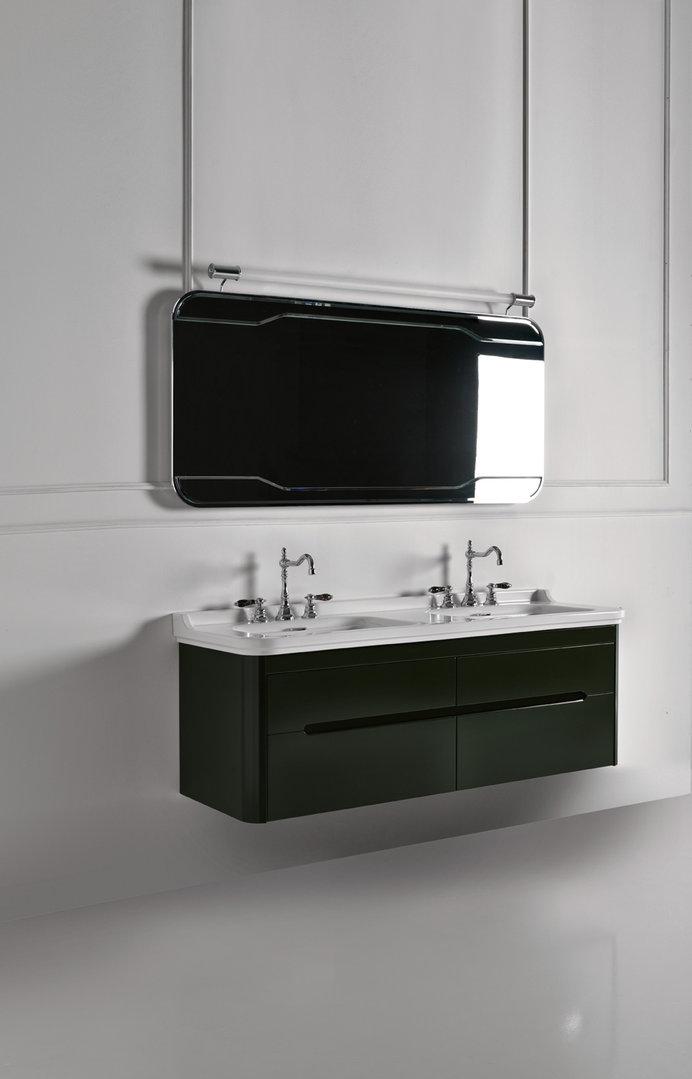 Doppelwaschtisch mit unterschrank 150  Waldorf Retro Doppel Waschtisch 150 cm mit Unterschrank - badelaedchen