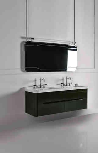 Nostalgie Waschtische mit Standsäule und Unterschränken - badelaedchen | {Doppel aufsatzwaschbecken mit unterschrank 96}