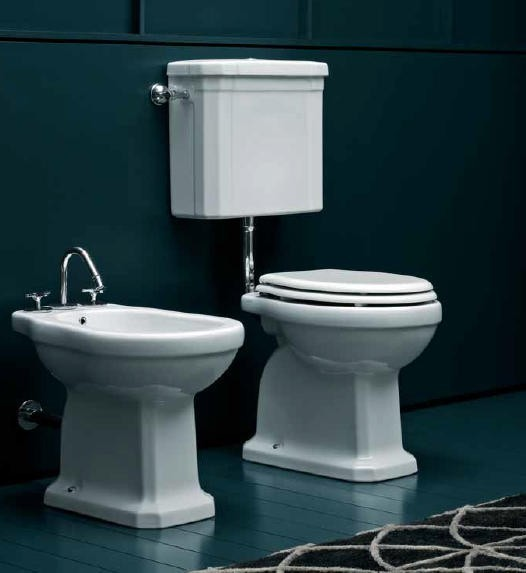 giu nostalgie toilette mit sp lkasten wandh ngend. Black Bedroom Furniture Sets. Home Design Ideas