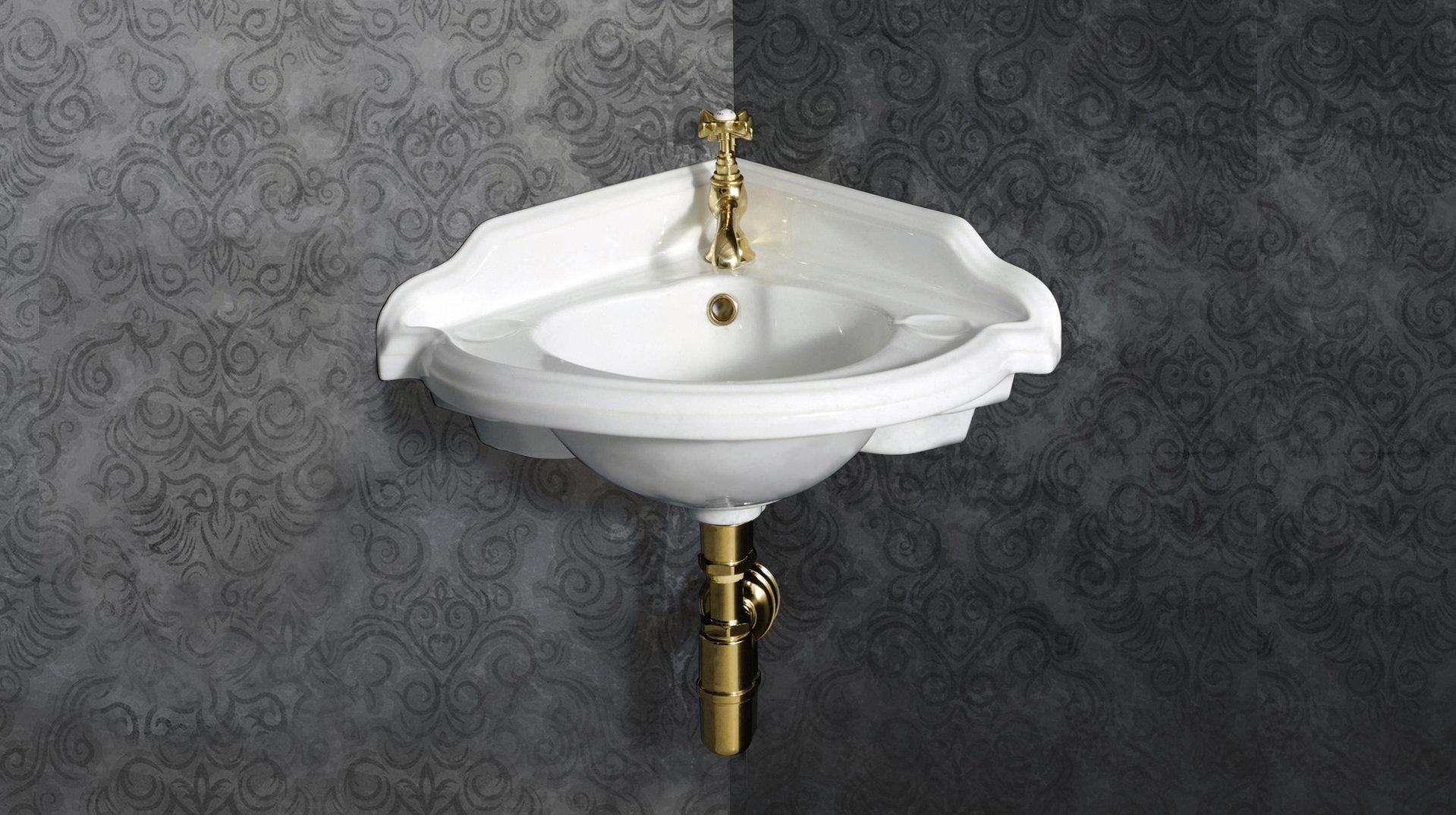 sovereign retro eck waschtisch 45 cm. Black Bedroom Furniture Sets. Home Design Ideas