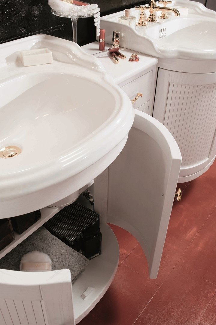 taylor landhaus waschbecken mit holz unterschrank 62 cm. Black Bedroom Furniture Sets. Home Design Ideas